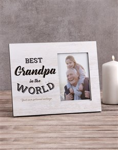 gifts: Personalised Best Grandpa Photo Frame!