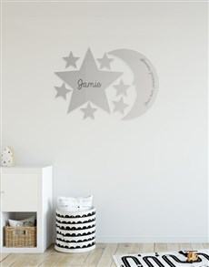 gifts: Personalised Star And Moon Mirror!