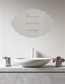 gifts: Personalised Message Mirror!