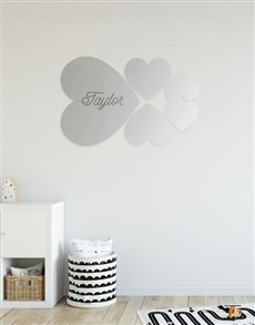 gifts: Personalised Hearts Mirror!