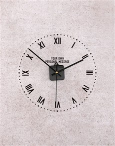 gifts: Personalised Roman Numerals Perspex Clock!
