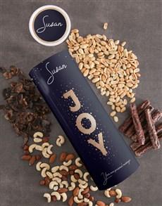 gifts: Personalised Joy Biltong and Nut Tube!