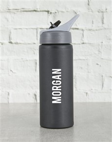 gifts: Personalised Black Waterbottle!