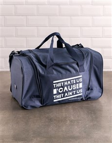 gifts: Personalised Haters Aint Us Gym Bag!
