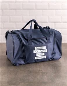 gifts: Personalised Fitness Gym Bag!