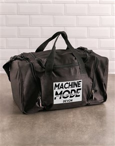 gifts: Personalised Machine Mode Gym Bag!