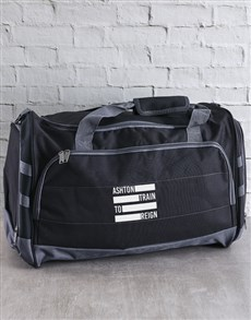 gifts: Personalised Train To Reign Gym Bag!