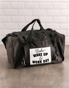 gifts: Personalised Work Out Gym Bag!