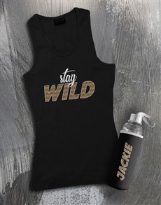 gifts: Personalised Stay Wild Waterbottle And Racerback!