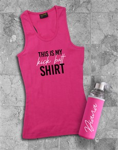 gifts: Personalised Kickbutt Waterbottle And Racerback!