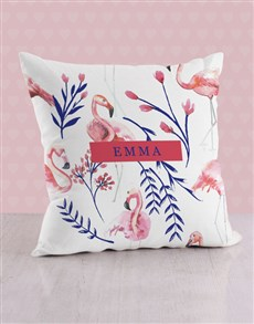gifts: Personalised Flamingo Baby Scatter Cushion!