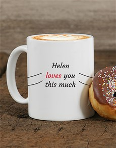 gifts: Personalised Love You This Much Mug!