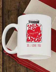gifts: Personalised Love Jar Mug!