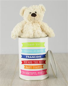 gifts: Personalised Grateful Teddy Tin!