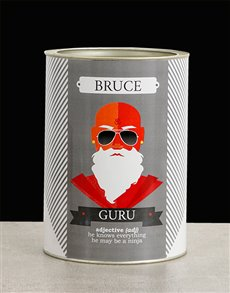 gifts: Personalised Guru Bro Bucket!