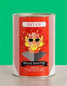 gifts: Personalised Braai Master Bro Bucket!