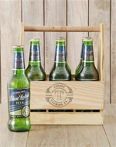 gifts: Personalised Initial Carling Beer Caddy!