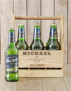 gifts: Personalised Anchor Carling Beer Caddy!