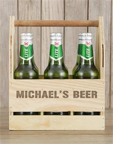 gifts: Personalised Castle Beer Caddy!