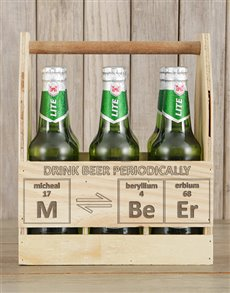 gifts: Personalised Periodically Castle Beer Caddy!