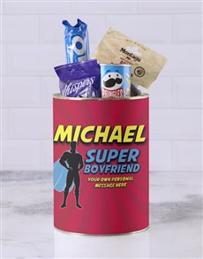 gifts: Personalised Superhero Boyfriend Bro Bucket!