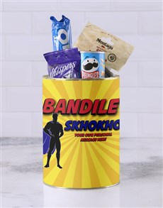 gifts: Personalised Superhero Skhokho Bro Bucket!