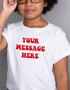 gifts: Personalised Retro Kids White T Shirt!