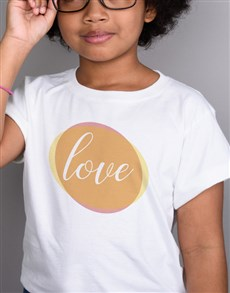 gifts: Personalised Love Circle Kids White T Shirt!