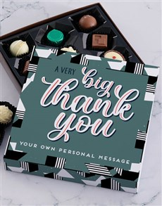 gifts: Personalised Big Thank You Chocolate Tray!