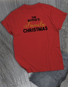 gifts: Personalised Family Christmas T Shirt!