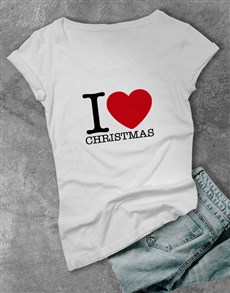 gifts: Personalised I heart Ladies T Shirt!