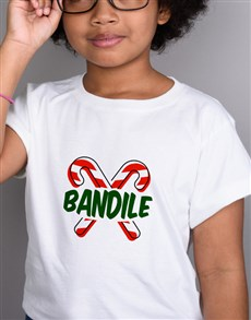 gifts: Personalised Candy Cane Kids T Shirt!