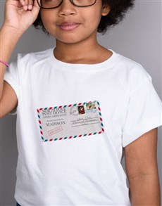 gifts: Personalised Christmas Post Kids T Shirt!
