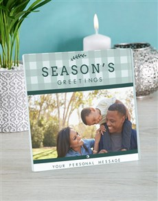 gifts: Personalised Seasons Greetings Glass Tile!