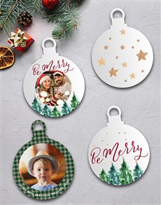 gifts: Personalised Be Merry MDF Tree Décor!
