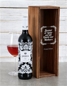 gifts: Personalised Quote Mothers Wine Crate!