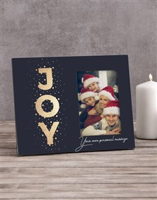 gifts: Personalised Joy Photo Frame!