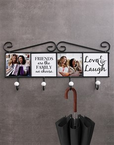 gifts: Personalised Love And Laughter Coat Rack!