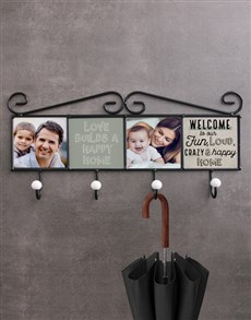 gifts: Personalised Crazy Happy Home Coat Rack!