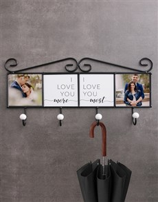 gifts: Personalised Love You Coat Rack !