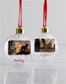 gifts: Personalised Joyful Baubles!