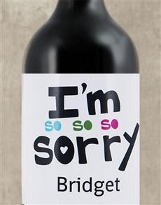 flowers: Personalised Sorry Wine!