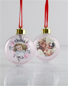 gifts: Personalised Holiday Baubles !