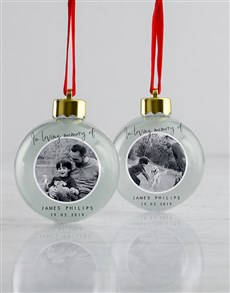 gifts: Personalised Loving Memory Baubles!