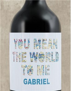 gifts: Personalised World To Me Wine!