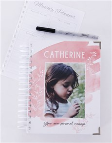 gifts: Personalised Pretty Pink Diary!