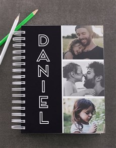 gifts: Personalised Black Photo Trio Diary!
