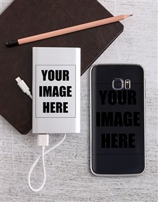 gifts: Personalised Photo Power Bank and Samsung Cover!