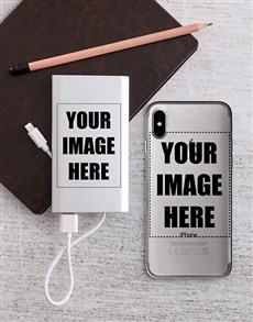 gifts: Personalised Photo Power Bank and iPhone Cover!
