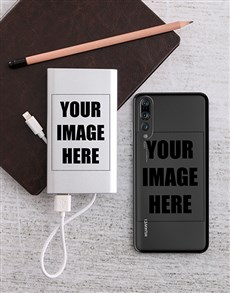 gifts: Personalised Photo Power Bank and Huawei Cover!